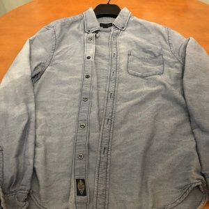 Urban Outfitters CPO Faded Blue Knit Button Down